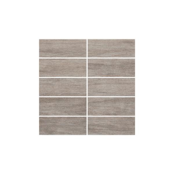 Ceramika Gres Dlažba Mozaika Paski Artwood szary 30 x 30 cm