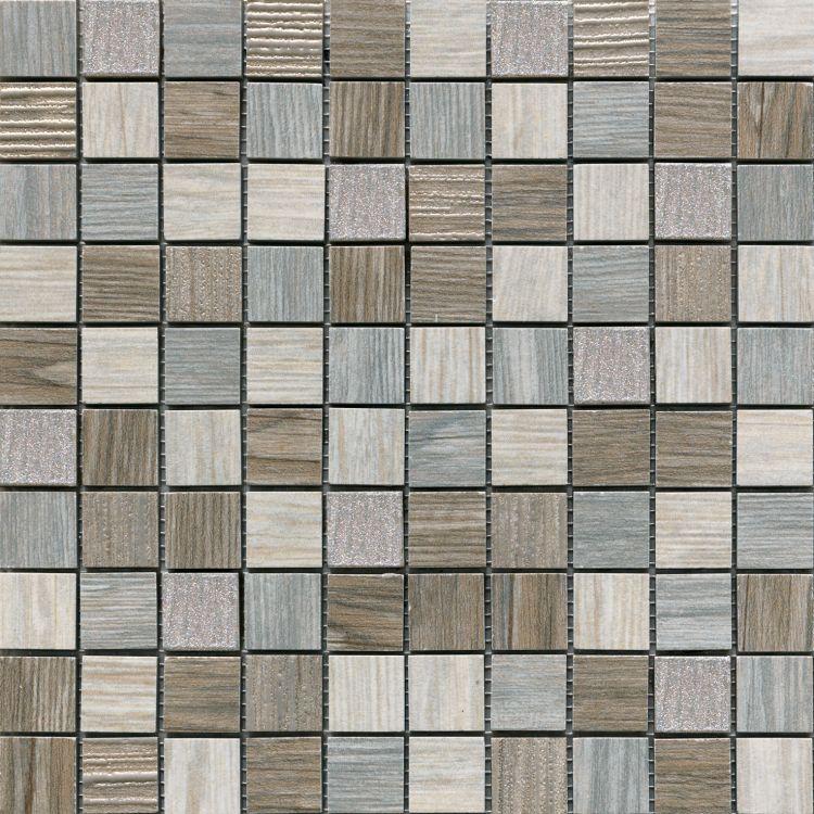 Ceramica Rondine Dlažba Jungle Mozaika Lux Grey Mosaico 30,5 x 30,5 S54172