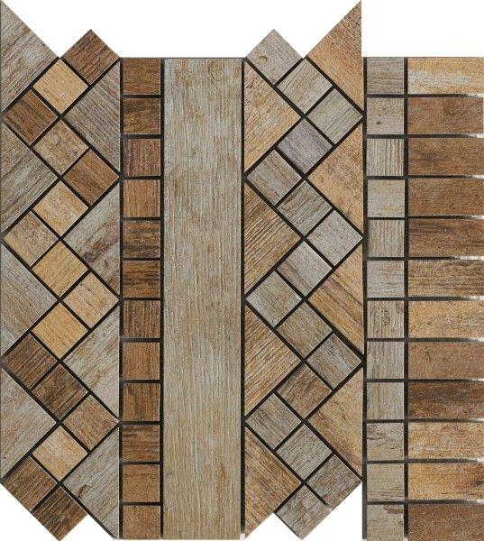 Ceramica Rondine Dlažba Metalwood Mozaika Beige Fascia 30,5 x 30,5