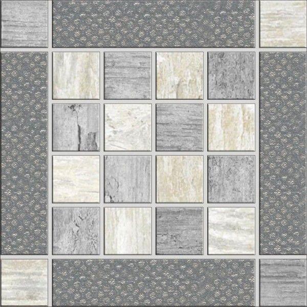 Ceramica Rondine Dlažba Metalwood Mozaika Grey Inserto 15 x 15