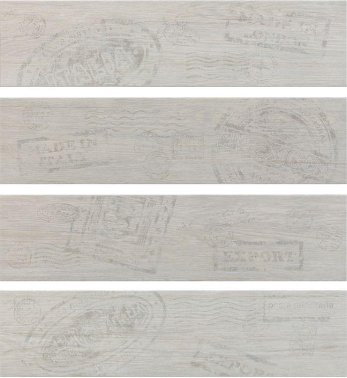 Ceramika Rondine Dlažba Jungle White stamp mix 15 x 61